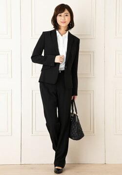 ビジネススーツレディーススーツストレッチ大きいサイズリクルートスーツビジネスリクルート通勤洗えるセットアップパンツスカート小さいサイズ就活パンツフルウエイストレッチヘリンボン2ボトムス