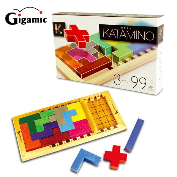 【送料無料】ギガミック Katamino カタミノ 数学的脳が作れる 脳トレ 木製玩具 積み木【fsp2124】