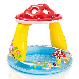 ビーチボールプレゼント INTEX(インテックス) マッシュルームベイビープール 57114 家庭用プール キッズプール ビニールプール 子供用 家庭用ビニールプール 子供用プール ふくらましプール 水遊び アウトドア サンシェード付