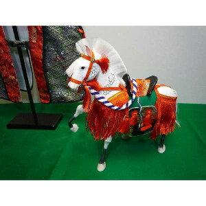 5月節句飾りお祝いの品に最適なちりめん飾り馬9号京馬かざり