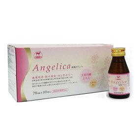 【冷え性に】Angelica(アンジェリカ)和漢ドリンク 70ml×10本セット 指定医薬部外品 血流改善 肌の改善 肌荒れ 肌の乾燥 血行 冷え性 体調不良 大和当帰 ビタミン 冷房 集中力