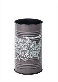 オシャレインテリア ダストボックス USA柄(ゴミ箱)/スチール+ソフトレザー製 【まと3】対応で送料無料