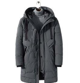 M-4XL 3color 秋冬 ダウンジャケット パーカー 大きいサイズ メンズ ジャケット アウター ダブルライダース 長袖/防寒 中綿