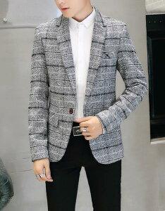 送料無料!テーラードジャケット コート サマージャケット ジャケット メンズ 通勤オフィス 入学式に七五三 OL 大きいサイズ トップス  事務服 結婚 フォーマル ビジネス 細身 大きいサイズ 春秋 長袖 M-XXXL 格子縞