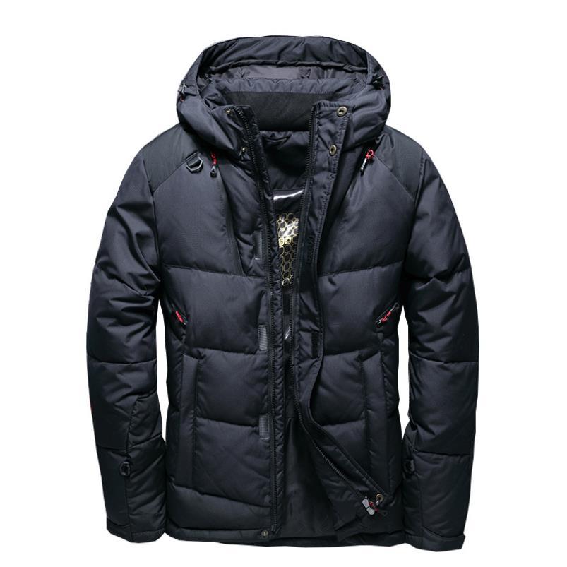 ダウンジャケット ファー付き メンズ 暖かい アウター ジャケット コート シンプル  プルオーバー アメカジ ストリート ウルトラ 秋冬 防風 防寒 M−5XL ダウン入る 60%