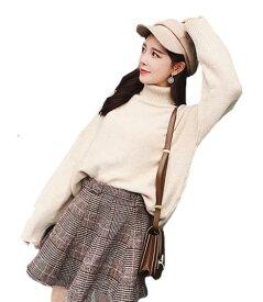 レディース ギャル服 上下 2点セット 長袖 パンツ ボトムス ゆったり ファッション  セットアップ  大きいサイズ  女子会 秋 無地 ビジネス S/M/L/XL/ トップス+スカート ニット