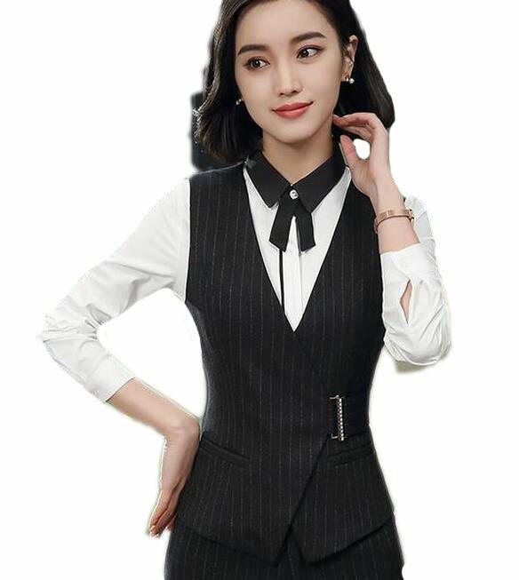 2色ベスト レディース 通勤オフィス 入学式に七五三 OL 大きいサイズ トップス 制服 事務服 フォーマル ビジネス 細身 大きいサイズ   ブラック  ネイビー 無地 縦縞