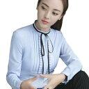 3色 レディース シャツ長袖 ワイシャツ 通勤オフィス 入学式に七五三 OL 大きいサイズ トップス 制服 事務服 フォーマル ビジネス ブラウス 細身 大きいサイズ