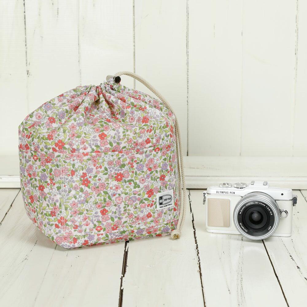 カメラバッグ おしゃれ ふわふわソフトタイプ カメラ用 12ポケットインナーバッグ/プティフル—ルピンク