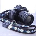 カメラストラップ mi-na ミーナ / エーデルブルーメ ブラック /長さ調節タイプ