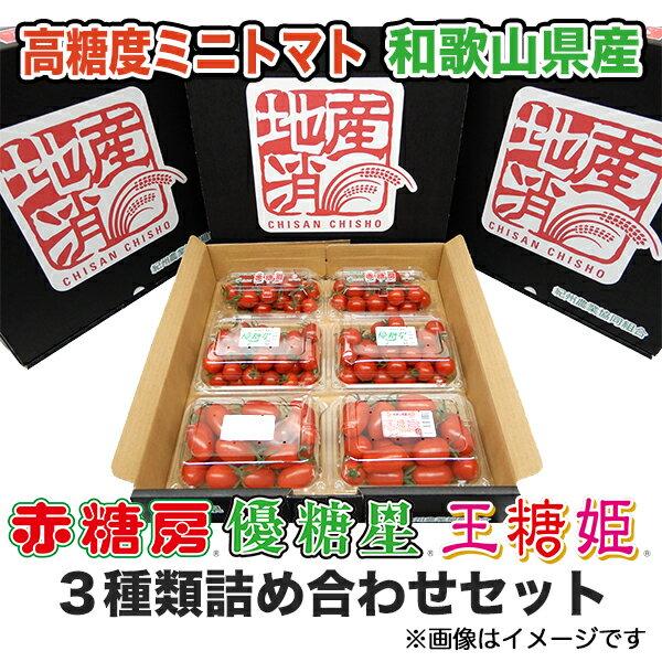 【送料無料】ミニトマト3種類詰め合わせセット 【ミニトマト】