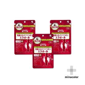 エクオール 30粒 ×3袋 小林製薬の栄養補助食品 発酵大豆イソフラボン(サプリメント)