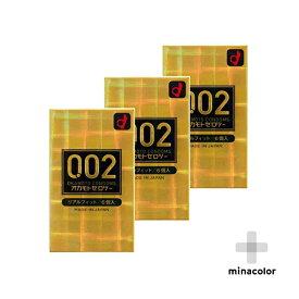 オカモト ゼロツー 0.02ミリ リアルフィット 6個入り コンドーム 男性用避妊具 ×3個セット