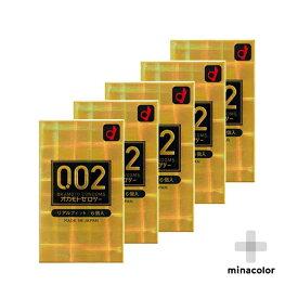 オカモト ゼロツー 0.02ミリ リアルフィット 6個入り コンドーム 男性用避妊具 ×5個セット