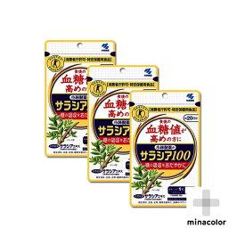 (3個セット)サラシア100 小林製薬 60粒×3個 約60日分 血糖値 コレステロール (特定保健用食品)