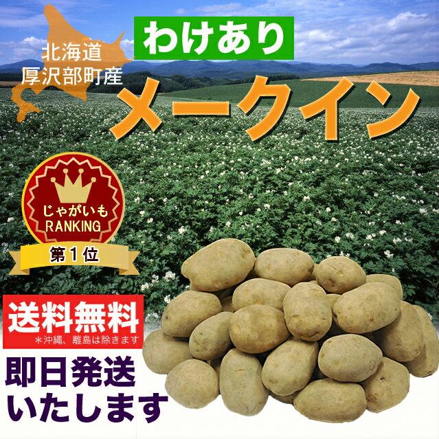 【訳あり】北海道厚沢部町産じゃがいも「メークイン」10kg【送料無料】