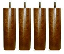 脚付きマットレスベッド用木脚20cmブラウン4本セット(1台分)