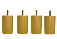 脚付きマットレスベッド用木脚10cmナチュラル4本セット(1台分)