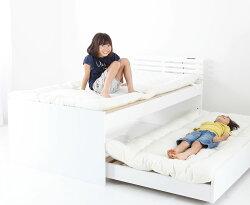 シングルサイズ 親子ペアベッドお子様とご一緒に。二段ベッドがわりとしても限られたスペースを有効活用送料無料
