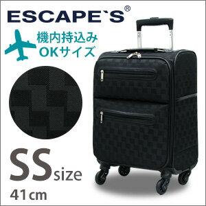 キャリーバッグ≪C9711T≫41cm SSサイズ(約1日〜2日向き)TSAロック付 チェック柄 機内持ち込み可【送料無料】ESCAPE'S