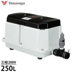安永エアポンプ エアーポンプ LW-2503 (三相200V/250L) [浄化槽 エアポンプ ブロアー ブロワ ブロワー]