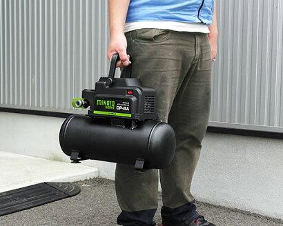 ミナトオイルレス型エアーコンプレッサーCP-8A(100V/タンク容量8L)[エアコンプレッサー][r10][s1-120][w400]