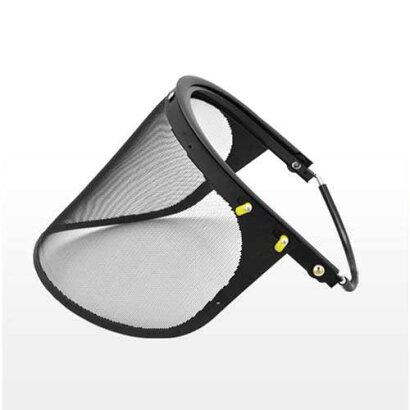 ヘルメット(保護帽)専用防護面(メッシュ)《草刈作業の安全補助具》