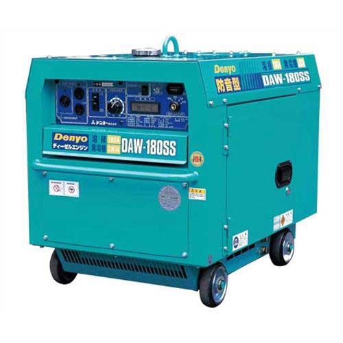 [最大1000円OFFクーポン] デンヨー 防音型ディーゼルエンジン溶接機 DAW-180SS (溶接発電兼用) [エンジンウェルダー]