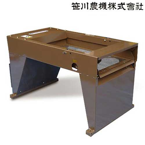 笹川農機 電動 土ふるい機 (篩い網4mm/7mm 2種付)