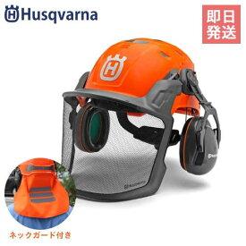 ハスクバーナ 高機能型ヘルメット フォレストヘルメット・テクニカル 585058401 (バイザー+イヤマフ付) [Husqvarna チェンソー]