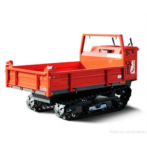 ヤマグチ クローラー運搬車 AM55DX-1 (積載500kg/復動油圧ダンプ/三方開閉式ドア) [エンジン式 動力運搬車]