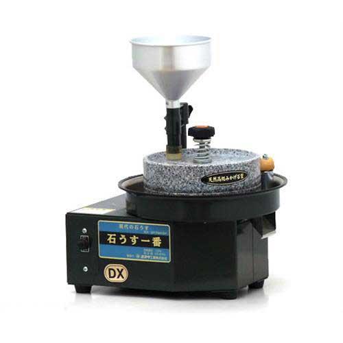 水田 電動石臼製粉機 石うす一番DX・標準型 (100V/容量:玄蕎麦800g/木枠ふるい付属)