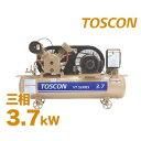 東芝 TOSCON 給油式エアコンプレッサー VT105/6-37T (3.7Kw/三相200V) [コンプレッサ]