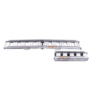 昭和ブリッジ アルミブリッジ 2本組セット NSBW-240-30-1.2 (240cm/幅30cm/荷重1.2t/折りたたみ式/ツメ)