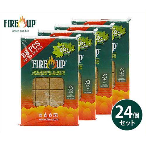 ファイヤーアップ 着火剤 28個入 ×24パックセット 541140 [FIRE-UP 薪 炭 着火 バーベキュー 燃料 固形]