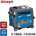 [最大1000円OFFクーポン] デンヨー 防音型エンジン溶接機 GAW-155ES (発電機兼用型/セル式) [Denyo GAW-150ES2後継機…