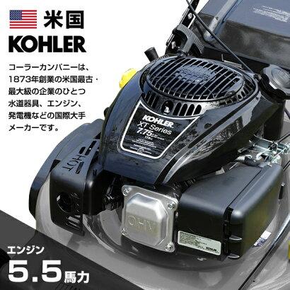 ミナトエンジン芝刈り機LMC-530KZ(自走式/刈幅530mm/4.5馬力/横排出機能付き)[エンジン式芝刈り機芝刈機モアー草刈り機][r12][s80]