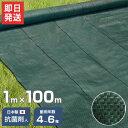 高密度135G 防草シート 1m×100m モスグリーン (日本製抗菌剤入り/厚手・高耐久4-6年) [黒 雑草防止 雑草シート 除草…