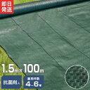 高密度135G 防草シート 1.5m×100m モスグリーン (日本製抗菌剤入り/厚手・高耐久4-6年) [黒 雑草防止 雑草シート 除…