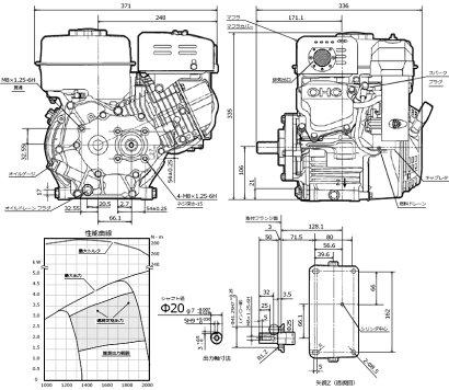 ロビンOHCガソリンエンジンEX21-2Bshipping_500