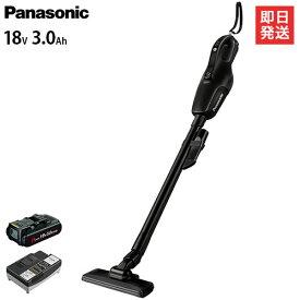 パナソニック 工事用充電クリーナー 18V 3.0Ah EZ37A3PN1G-B (黒) [Panasonic クリーナー ハンディ スティック 掃除機]