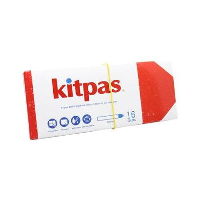 キットパス(kitpas)ミディアム16色KM-16C4904085317038[大工道具墨つけ・基準出しマーカー][r13][s1-060]