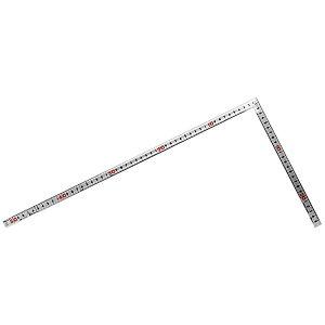 シンワ測定 曲尺同厚 シルバー 50cm/1尺6寸 併用目盛 名作 10639 4960910106390
