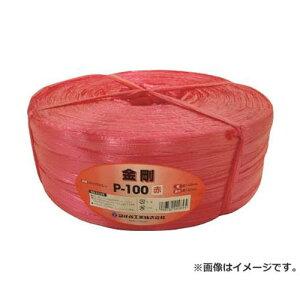 ツカサ 手結束用PP縄(ツカサテープ)P-100R 赤 P100R [r20][s9-810]