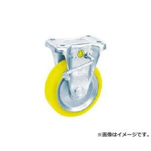 シシク 静電気帯電防止キャスター 固定ストッパー付 75径 ウレタン車輪 EUWKB75 [r20][s9-810]