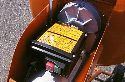 コンクリートミキサー2.5切WPM-70A(100Vモーター+車輪付き)《シャフト固定ピン加工済》