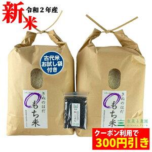 【おまけ付き】【クーポン配布中】秋田県産 農家直送 きぬのはだ もち米10kg(5kg×2袋) 令和2年産 / 古代米お試し袋付き