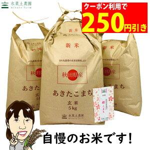 【おまけ付き】【クーポン配布中】秋田県産 農家直送 あきたこまち 玄米 20kg(5kg×4袋)令和 2年産 / 古代米お試し袋付き