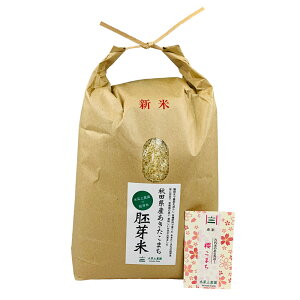 新米【おまけ付き】秋田県産 農家直送 水菜土農園の胚芽米 あきたこまち 5kg 令和 2年産 / 古代米お試し袋付き