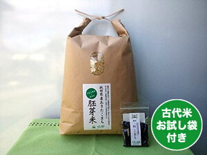 新米【胚芽精米】秋田県産 農家直送 水菜土農園の胚芽米 5kg 令和元年産 古代米付き